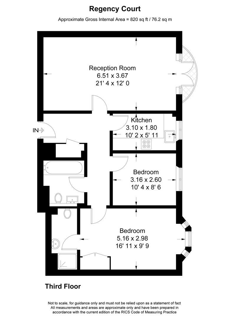 Floorplan for Regency Court, Hartfield Road, Wimbledon